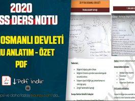 20.yy osmanlı devleti konu anlatım pdf