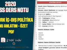 atatürk dönemi iç ve dış politika konu anlatım pdf