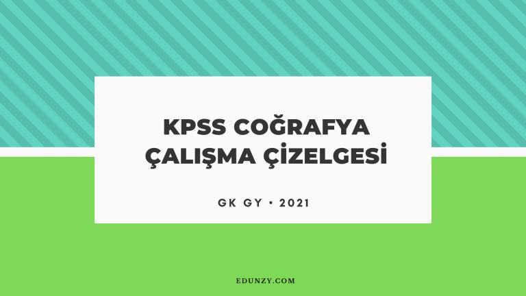 KPSS Coğrafya Çalışma Çizelgesi